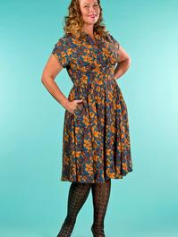 the rock around the clock dress. autumn leaves