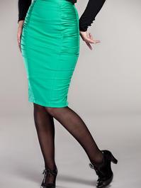 Curvy wiggle skirt. Emerald green