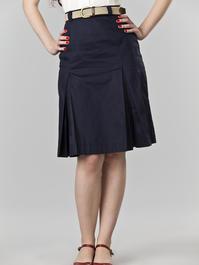 the twirly swirly skirt. navy twill