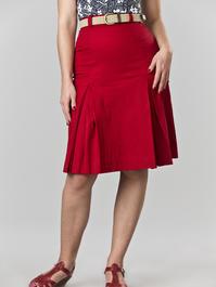 the twirly swirly skirt. red twill