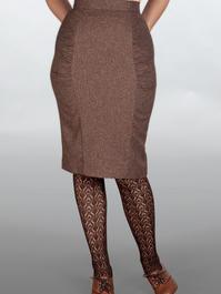 The curvy wiggle skirt. Brown salt & pepper