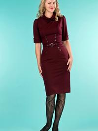 the boss-lady dress. fig jacquard