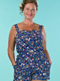 the countryside cutie playsuit. tulips in blue
