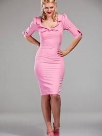Sassy sailorette dress. Candy pink