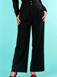 the fancy worker pants. black jacquard