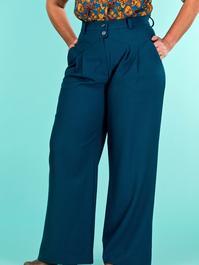 the fancy worker pants. petroleum jacquard