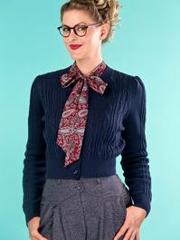 the ice skater cardigan. navy