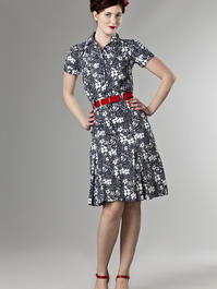 the jungle journey shirt dress. navy flowers