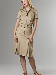 the jungle journey shirt dress. sand twill