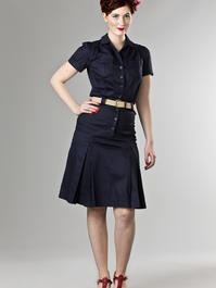 the jungle journey shirt dress. navy twill
