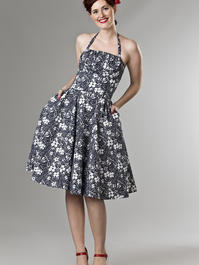 the Honolulu swing dress. navy flowers