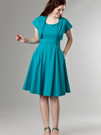 the bombshell bolero and dress duo. turquoise