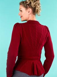 the screen siren cardigan. wine