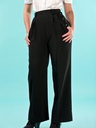 the casual voyager slacks. black twill