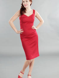 the jamming with Jackie dress. Lipstick red pique