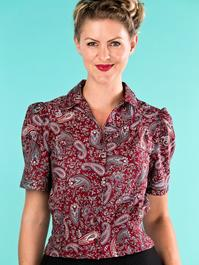 the Hollywood Boulevard blouse. paisley