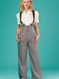 the miss fancy pants slacks. brown weave