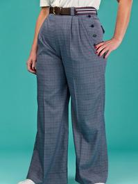the casual voyager slacks. navy weave