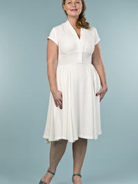 the rock around the clock dress. cream linen