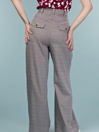 the fancy worker pants. brown weave