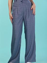 the fancy worker pants. navy weave