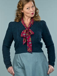 the ice skater cardigan. melanged teal