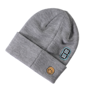 Name It Kids Knitted Hat Patch Grey