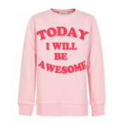 Kids Pink Sweatshirt Awesome