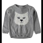 Mini Knitted Sweater Cat Grey
