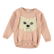 Mini Knitted Sweater Cat Pink