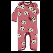 Panda Baby Bodysuit Småfolk Rosa