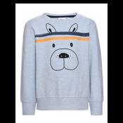 Mini Sweatshirt Dogface Light Blue