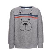 Mini Sweatshirt Dogface Grey