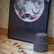 Poster Måne Omm Design