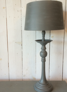 Plåtlampa grå