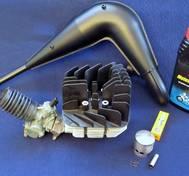 Komplett trimkit. Yamaha DT 50 MX. 70 cc 45 mm. Högeffekt.