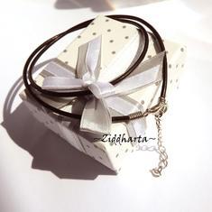 Svart Smyckesrem Satin Silk - inklusive lås, förlängningskedja!