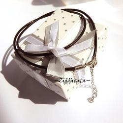 Svart Smyckesrem Läder - inklusive lås & förlängningskedja!