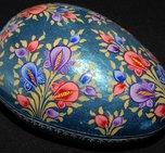 Ägg glittrig turkos, blommor