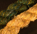 Silke & banangarn blandat gul/vit med guldton