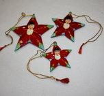 Julstjärnor hängande 3-pack tomtar