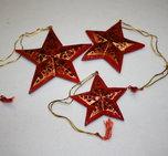 Julstjärnor hängande 3-pack röd