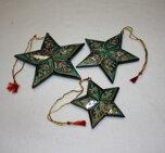 Julstjärnor hängande 3-pack grön