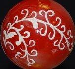 Julkula röd med vit slinga 8 cm