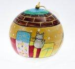 Julkula med katter 8 cm