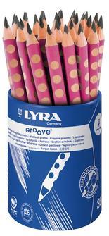 Lyra Groove Graphite B Rosa 36st i burk