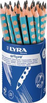 Lyra Groove Graphite B Turkos 36st i burk