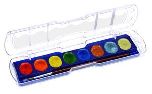 Giotto Aquarelli Metalic vattenfärg 8-pack