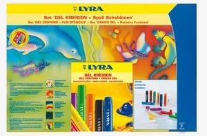 Gel Crayons & Schablon 12-pack Animals