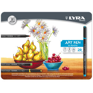 Lyra Hi-Quality Art Pen Metallask 20-pack